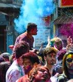 Festival di Holi in pokhara fotografia stock libera da diritti