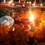 Festival di indicatore luminoso Diwali felice fotografia stock