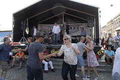 FESTIVAL DI JAZZ 2013 DI DENMARK_COPENHAGEN Fotografie Stock