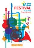 Festival di jazz poster2 Fotografia Stock Libera da Diritti