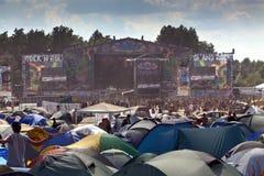 Festival di Kostryzn Woodstock Fotografia Stock Libera da Diritti