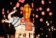 Festival di lanterna, Chengdu, Cina nel 2015 Fotografia Stock