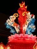 Festival di lanterna, Chengdu, Cina nel 2015 Fotografie Stock