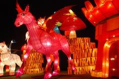 2014 festival di lanterna cinesi del nuovo anno Fotografia Stock Libera da Diritti