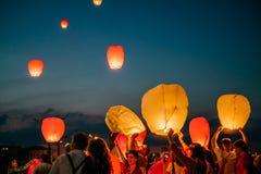 Festival di lanterna del cielo fotografia stock libera da diritti
