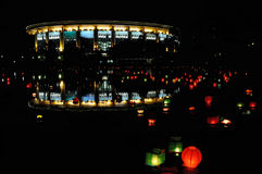Festival di lanterna di carta fotografie stock libere da diritti