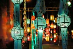 Festival di lanterna di Yee Peng in Chiang Mai Thailand immagine stock