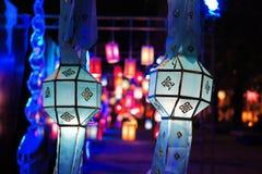 Festival di lanterna di Yee Peng in Chiang Mai Thailand fotografia stock libera da diritti
