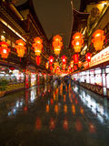 Festival di lanterna durante il nuovo anno cinese. 16 febbraio 2014 Fotografie Stock Libere da Diritti