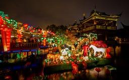 Festival di lanterna durante il nuovo anno cinese. 16 febbraio 2014 Immagine Stock Libera da Diritti