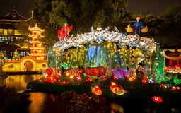 Festival di lanterna durante il nuovo anno cinese. 16 febbraio 2014 Fotografie Stock