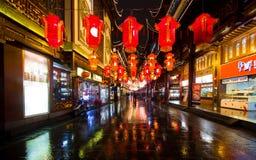 Festival di lanterna durante il nuovo anno cinese. 16 febbraio 2014 Fotografia Stock Libera da Diritti