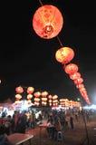 Festival di lanterna in Indonesia fotografie stock