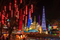 Festival di lanterna internazionale del dinosauro di Zigong Immagine Stock Libera da Diritti