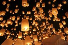 Festival di lanterna, Loi Krathong, Chiang Mai, Tailandia Fotografie Stock