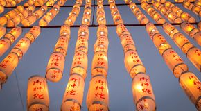 Festival di lanterna 10.000, Taga Taisha, Shiga, Giappone Immagine Stock