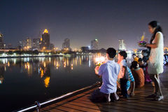 Festival di Loy Kratong Fotografia Stock