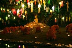 Festival di Loy Kratong Fotografie Stock