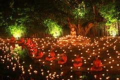 Festival di Loy Kratong, Buddha Fotografie Stock Libere da Diritti