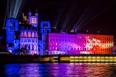 Festival di luce a Lione, francese fotografia stock libera da diritti