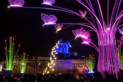 Festival di luce a Lione, francese immagini stock libere da diritti