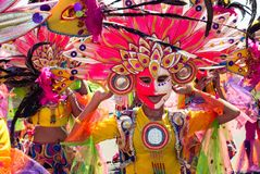 Festival di Masskara Città di Bacolod, Filippine Fotografia Stock
