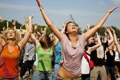Festival di musica Budapest Ungheria di estate di Sziget Fotografia Stock