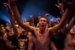 Festival di musica Budapest Ungheria di estate di Sziget Fotografia Stock Libera da Diritti