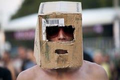 Festival di musica Budapest Ungheria di estate di Sziget Fotografie Stock Libere da Diritti
