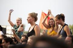 Festival di musica Budapest Ungheria di estate di Sziget Fotografie Stock