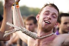 Festival di musica Budapest Ungheria di Sziget Immagini Stock Libere da Diritti