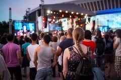 Festival di musica etnica Forey Immagine Stock