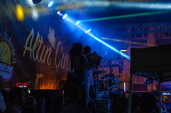 Festival di musica folk di estate Fotografia Stock Libera da Diritti