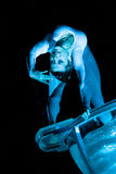 Festival di notte: Ballo dell'acqua Fotografie Stock