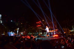 Festival 2014 di notte di Singapore con William Close Immagini Stock