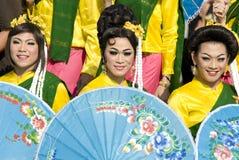 Festival di nuovo anno di Songkraan, Tailandia 2008 Fotografia Stock Libera da Diritti