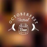 Festival di Octoberfest Barilotto di birra Illustrazione di vettore Royalty Illustrazione gratis