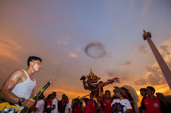 Festival di Ogoh-Ogoh, l'11 marzo 2013 Fotografia Stock Libera da Diritti