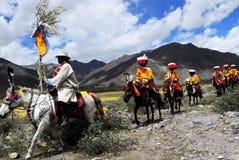 Festival di Ongkor nel Tibet Fotografie Stock