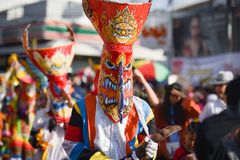 Festival 2018 di parata di Phi Ta Khon fotografie stock