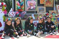 Festival di primavera dei fiori, festival della scuola nella città di Bacu Fotografie Stock Libere da Diritti