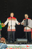 Festival di Pushkin nel villaggio di Polotnyany Zavod, regione di Kaluga, Russia 6 giugno 2016 Fotografie Stock Libere da Diritti