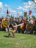 Festival di ricostruzione storica di Vichingo Fotografia Stock