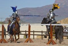 Festival di rinascita dell'Arizona che Jousting fotografie stock libere da diritti