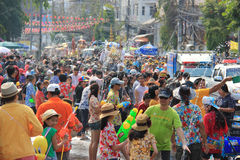 Festival 2014 di Songkran Fotografie Stock Libere da Diritti