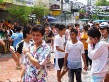 Festival di Songkran, Bangkok, Tailandia. fotografia stock libera da diritti