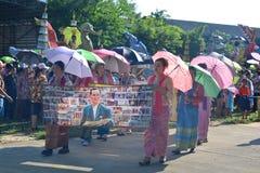 Festival di Songkran nello stile di Tailandese-lunedì Fotografie Stock