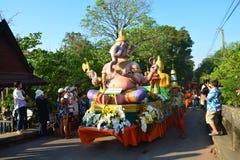Festival di Songkran nello stile di Tailandese-lunedì Fotografie Stock Libere da Diritti