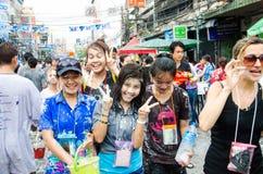 Festival di Songkran in Tailandia Immagine Stock