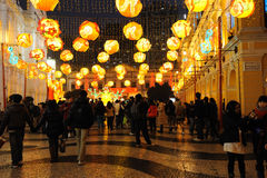 festival di sorgente dei 2012 cinesi a macau Fotografie Stock Libere da Diritti